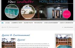Création du site internet hôtel du lac bleu